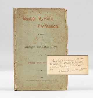 CASHEL BYRON'S PROFESSION. A Novel. SHAW. GEORGE BERNARD