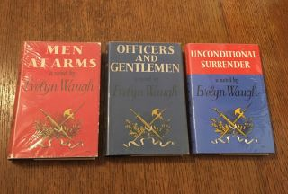 MEN AT ARMS TRILOGY. Men at Arms. - Officers and Gentlemen. - Unconditional surrender. WAUGH. EVELYN