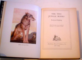THE TWO JUNGLE BOOKS. With illustrations by J. Lockwood Kipling, C.I.E., and W. H. Drake.