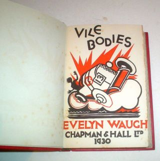 VILE BODIES. WAUGH. EVELYN