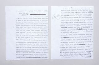 Unpublished typescript with manuscript corrections. --- Un apres-midi avec Picasso 85 ans. (An...