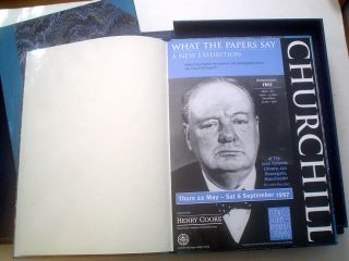 CHURCHILL: WHAT THE PAPERS SAY. - THE RICHES OF THE RYLANDS. - JOHN RYLANDS OF MANCHESTER. Brochure for Churchill exhibition, Prospectus of John Rylands Research Institute, and First edition of Farnie biography.