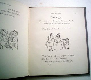 CAUTIONARY TALES FOR CHILDREN. Verses by H. Belloc. Pictures by B. T. B.