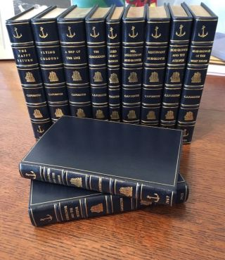 THE COMPLETE HORNBLOWER NOVELS. The Happy Return (1937); A Ship of the Line (1938); Flying Colours (1938); The Commodore (1945); Lord Hornblower (1946); Mr Midshipman Hornblower (1950); Lieutenant Hornblower (1952); Hornblower and the Atropos (1953); Hornblower in the West Indies (1958); Hornblower and the Hotspur (1962); Hornblower and the Crisis (an unfinished novel. 1967).
