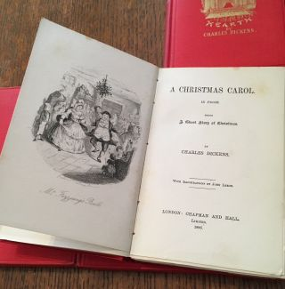 THE CHRISTMAS BOOKS. A Christmas Carol - The Chimes - The Cricket on the hearth - The Battle of Life - The Haunted Man.