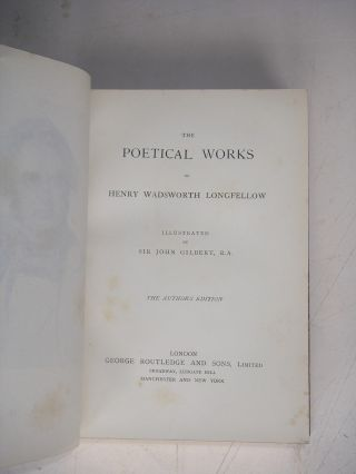 THE POETICAL WORKS. The Author's edition.