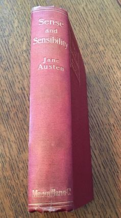 SENSE AND SENSIBILITY. With an introduction by Austin Dobson.