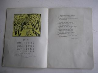 THE SUN CALENDAR FOR THE YEAR 1920. Arranged by Paul Nash, with illustrations by Paul and John Nash and Rupert Lee.