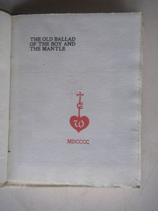 THE OLD BALLAD OF THE BOY AND THE MANTLE.