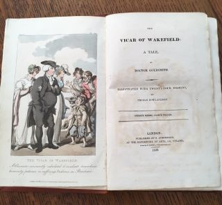 THE VICAR OF WAKEFIELD. A Tale. Illustrated witjh twenty-four designs, by Thomas Rowlandson.