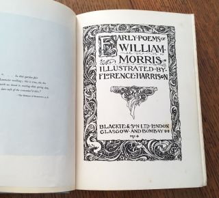 EARLY POEMS OF WILLIAM MORRIS.
