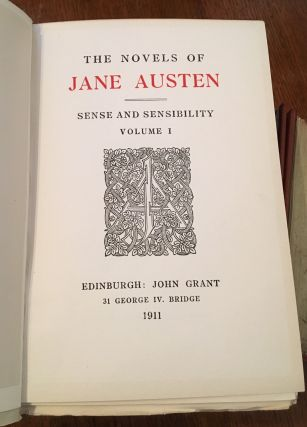 THE NOVELS. The Winchester edition. --- Sense and sensibility, Pride and prejudice, Mansfield park, Emma, Northanger Abbey and Persuasion, Lady Susan and The Watsons and The Letters.