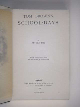 TOM BROWN'S SCHOOL-DAYS. By an Old Boy.