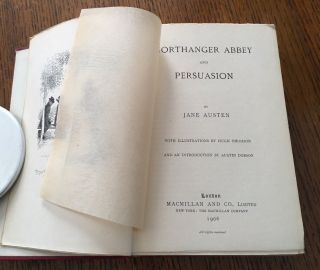 NORTHANGER ABBEY and PERSUASION. With an introduction by Austin Dobson.
